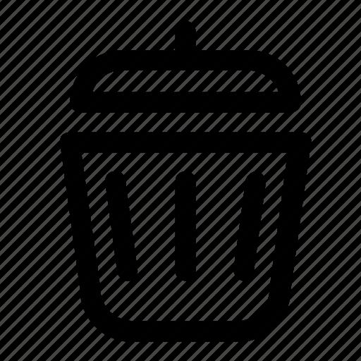 bin, delete, remove, trash, trash can icon