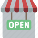 e commerce, e-commerce, ecommerce, open, shop, shopping icon