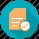 checklist, document, items, list, paper, task, tick icon