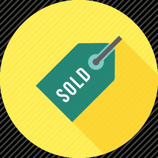 banner, label, sale, shop, sold, sticker, tag icon
