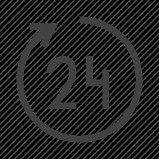 clock, customer, hours, open, round icon