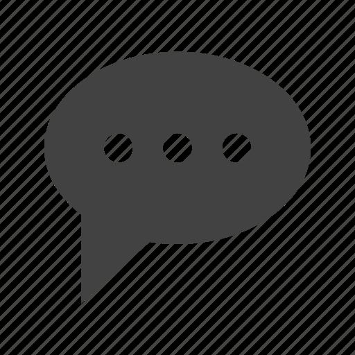 bubble, chat, comment, communication, discussion, message icon