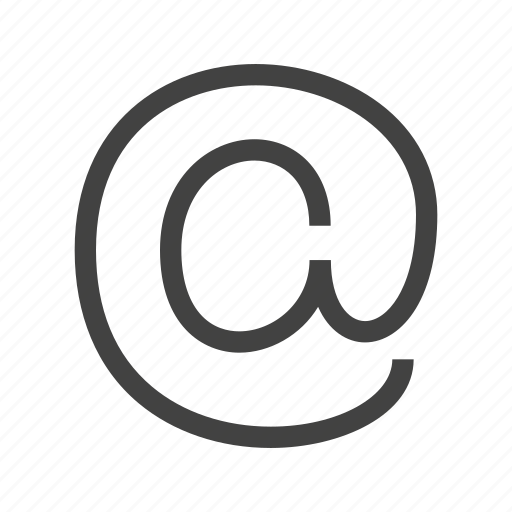 ampersand, at, contacts, email, mail, sign icon