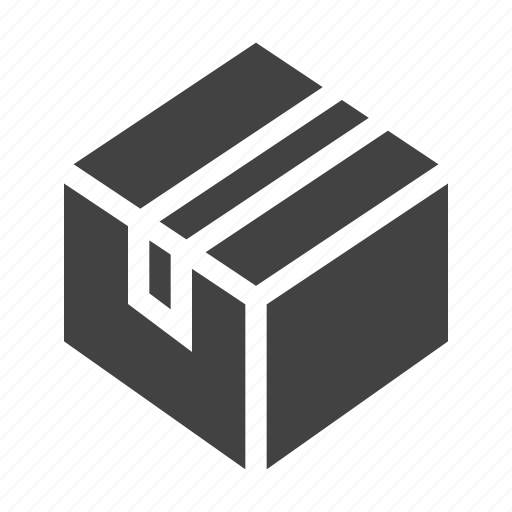 box, cardboard, delivery, point, shipping icon