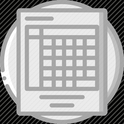 e commerce, e-commerce, ecommerce, shopping, spreadsheet icon