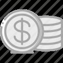 coins, e commerce, e-commerce, ecommerce, shopping icon