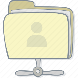 drawing, drawn, file folder, folder, hand, main, portfolio icon