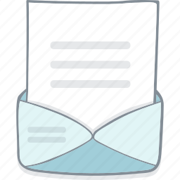 cover, drawing, drawn, envelope, hand, letter, writing icon
