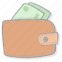 drawing, earn, ecommerce, money, moneу, pay, wallet icon icon