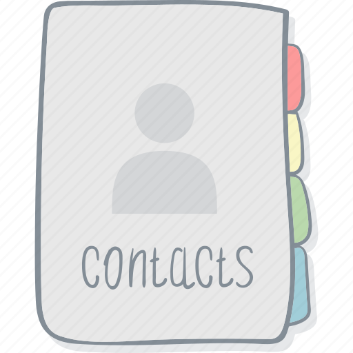 address, communications, contacts, drawing, drawn, hand, notebook icon