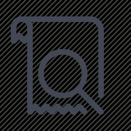 billing, invoice, receipt, search, view icon
