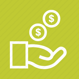 cash, cents, dollar, exchange, funding, hand, money icon