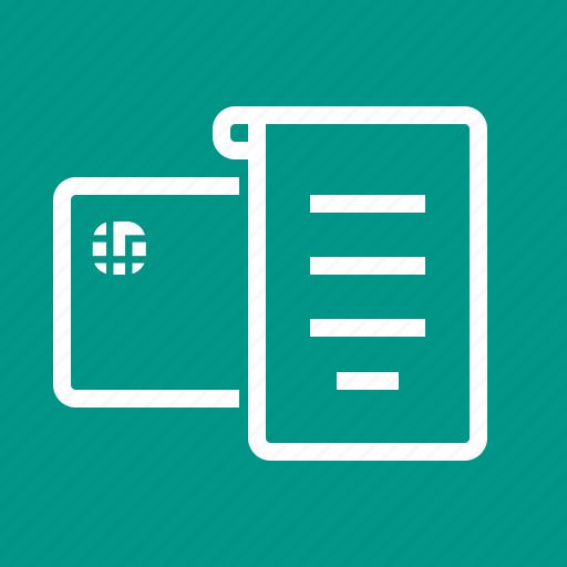 bill, billing, invoice, list, note, paper, receipt icon
