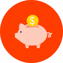 cash, coin, finance, money, moneybox, pig, saving icon