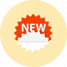 ecommerce, label, new, sale, shop, shopping, sticker icon