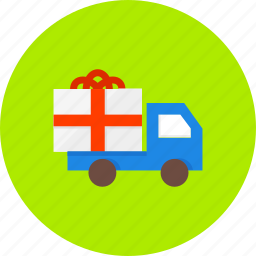 box, delivery, ecommerce, gift, present, shopping, truck icon