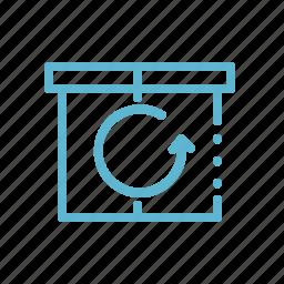 box, pack, parcel, return, shipment, shipping, transportation icon