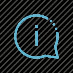 bubble, data, help, info, information icon