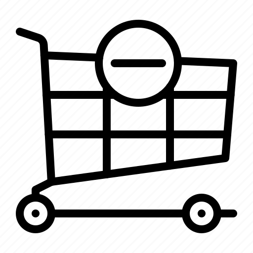 cart, online, product, remove, shop, shopping icon