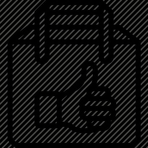 bag, e commerce, e-commerce, ecommerce, like icon