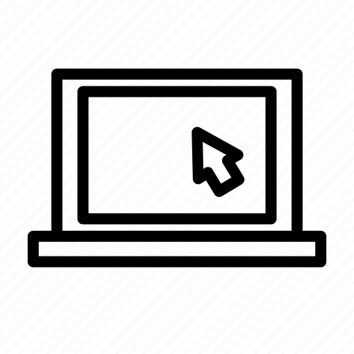 click, computer, ecommerce, internet, laptop, online, shopping icon