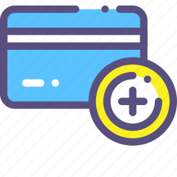 add, card, credit, plus icon