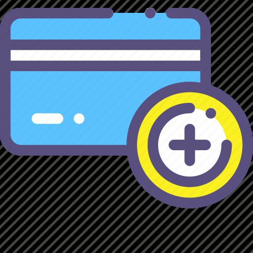 add, card, credit, plus icon
