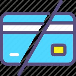 card, credit, delete, destroy icon