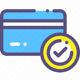 card, credit, done, success icon