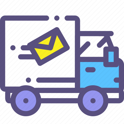car, delivery, freight, mail icon