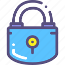 close, key, lock, protection icon