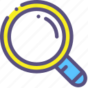 approach, glass, magnifying, survey icon