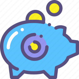 collect, money, moneybox icon
