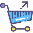 back, basket, purchase, shop icon