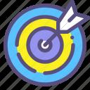 destination, hit, mission, purpose icon