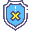 danger, defeat, defense, protection, shield, threat, virus icon