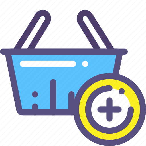 add, basket, buy, plus, purchase, shop icon