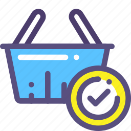basket, buy, done, purchase, shop, success icon