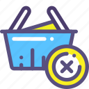basket, buy, delete, purchase, shop icon