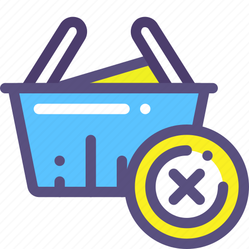 basket, buy, delete, purchase, shop icon