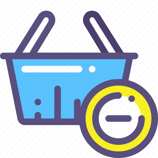basket, buy, minus, purchase, shop icon