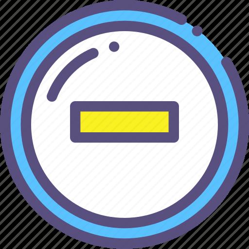 decrease, minus, sign icon