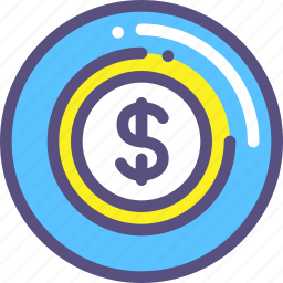 currency, dollars, us icon
