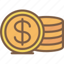 coins, e commerce, e-commerce, ecommerce, shopping icon