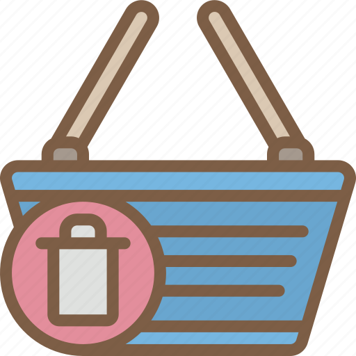 basket, delete, e commerce, e-commerce, ecommerce, shopping icon
