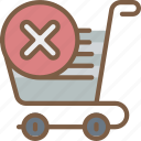 delete, e commerce, e-commerce, ecommerce, shopping, trolly icon