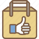 bag, e commerce, e-commerce, ecommerce, like, shopping icon