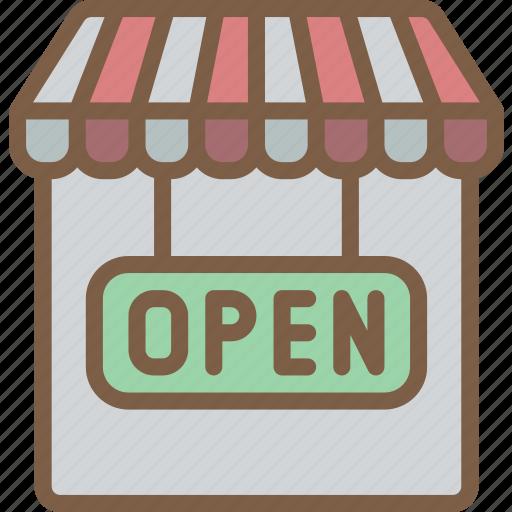 e commerce, e-commerce, ecommerce, open, shop, shopping icon