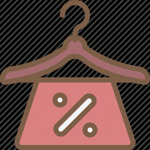 discount, e commerce, e-commerce, ecommerce, hanger, shopping icon