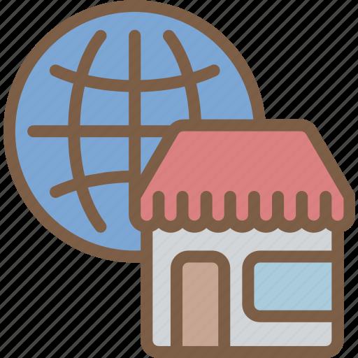 e commerce, e-commerce, ecommerce, global, shopping icon